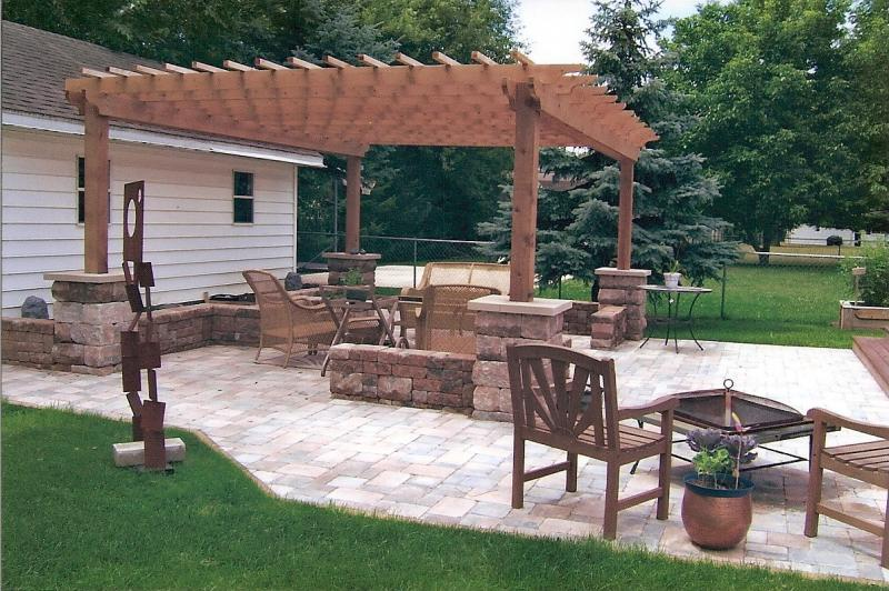 paver patio with pergola. Paver Patio With Pergola L